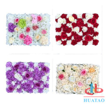 Hot selling mix color rose artificial flower wall