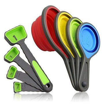 Collapsible Measuring Cups and Measuring Spoon Set