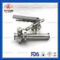 Food Grade Tee with Butterfly Valves