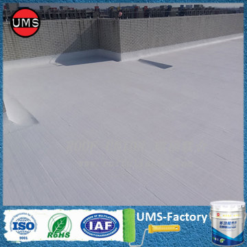 Waterproof elastomeric coating on roof
