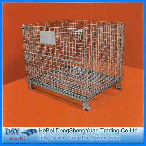 4 Sided Wire Rolling Metal Storage Cage