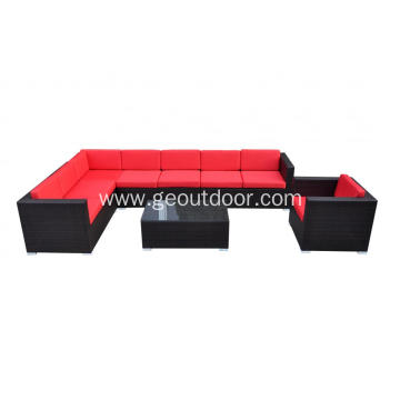 Leisure ways rattan sofa with aluminum base furniture
