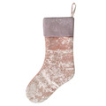 Pink christmas stocking with sequin design