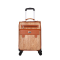 OEM Pu travel leather boarding luggage