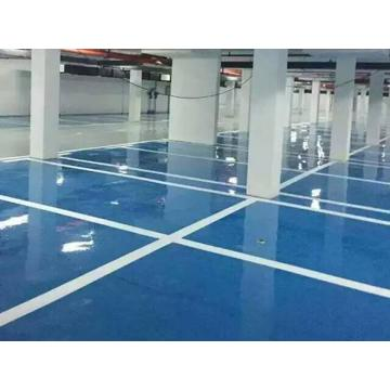 Garage high strength epoxy self-flowing flat paint