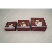 Supply for Christmas Box Hand-painted Snowman custom Christmas gift box export to Serbia Suppliers