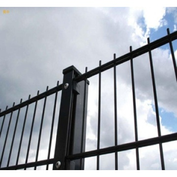 PVC coated double horizontal wire fence