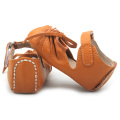 Wholesale Tan Soft Leather Baby Gladiator Sandals