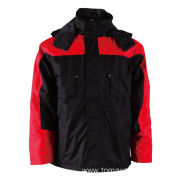 Black with red Winter Jacket
