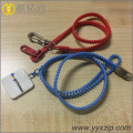 customized plastic zipper lanyard with rubber puller