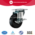 63mm Black Rubber Light Duty Industrial Caster with side brake