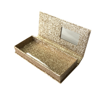 Wholesale Gold Glitter Lahes Box wtihout Printing