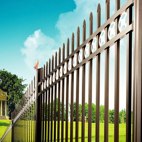 professional cheap zinc steel picket fence