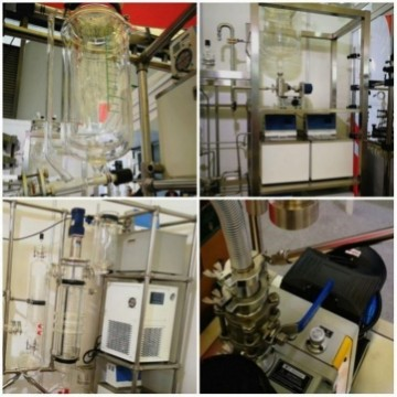 Chemical CBD extraction wiped film evaporator distillation