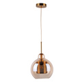 Glass ball shade simple edison bulb pendant light