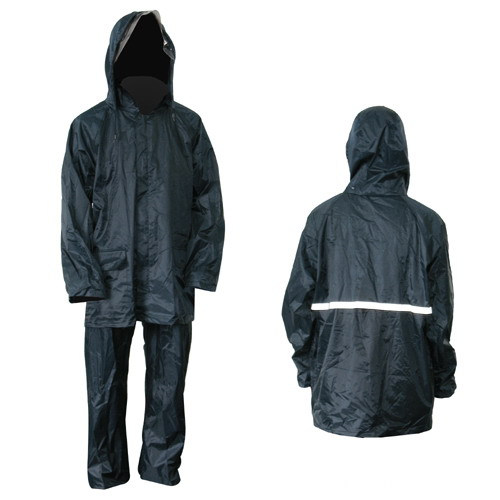 Police Man Polyester Rain Suits With Reflective Stirp