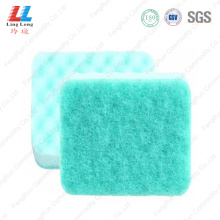 Shinning style scouring scrubber sponge