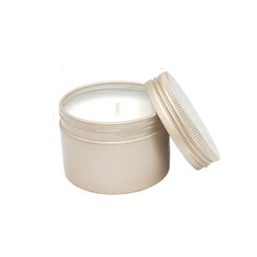 Round Gold Silvery Metal Tins Slip-On Lids Candles
