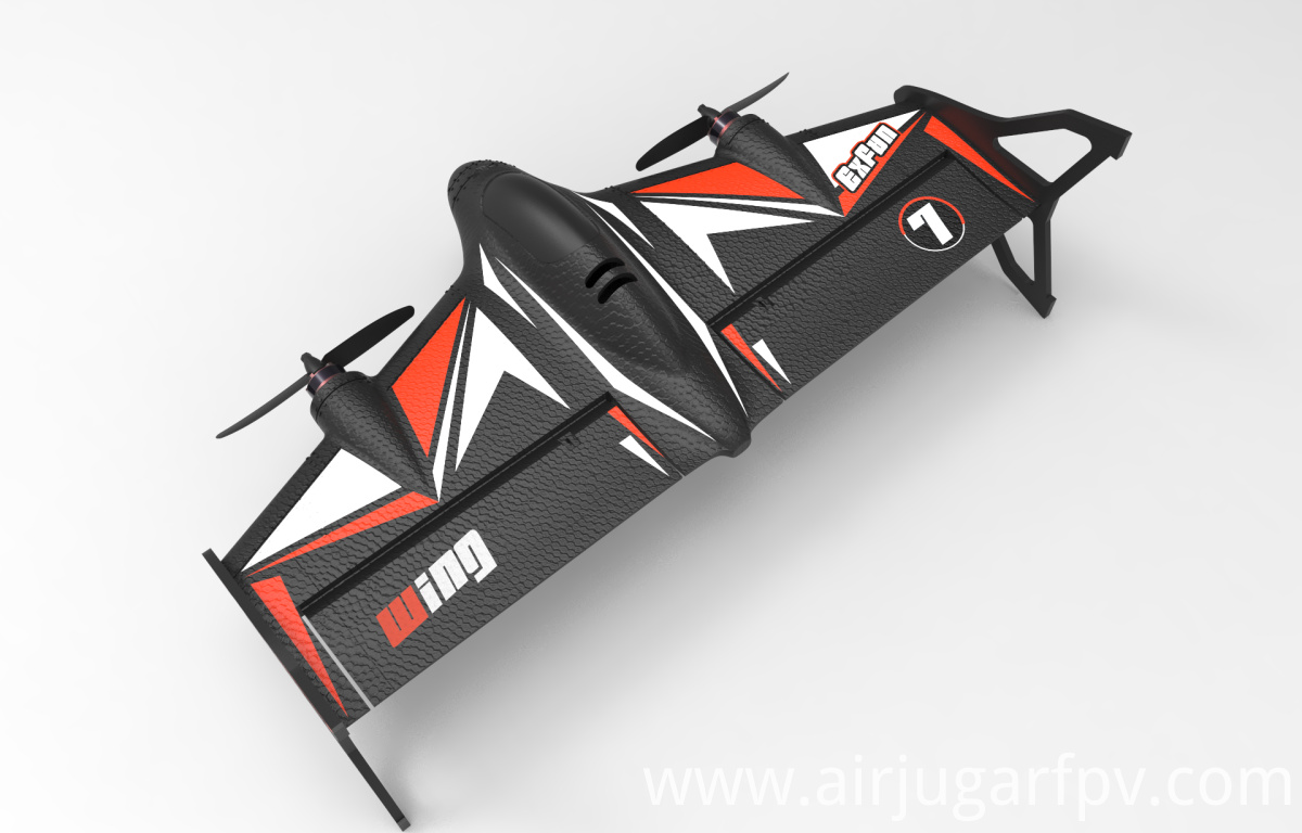 Black RC airplane