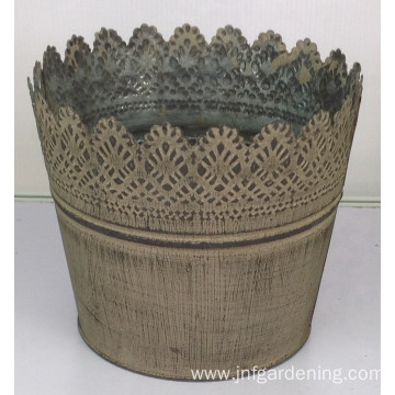 Vintage grain craft bucket