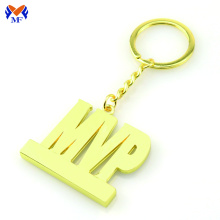 Metal zinc alloy custom keyring with logo