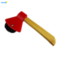 Bamboo Handle Axe Shaped Pizza Cutter Wheel
