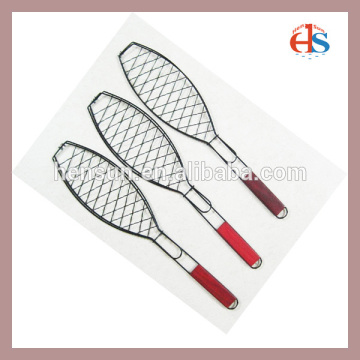 BBQ Grilling Basket Fish Shape Wire Basket Net