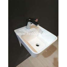 Pure Acrylic PMMA back-to-wall basin for hotel