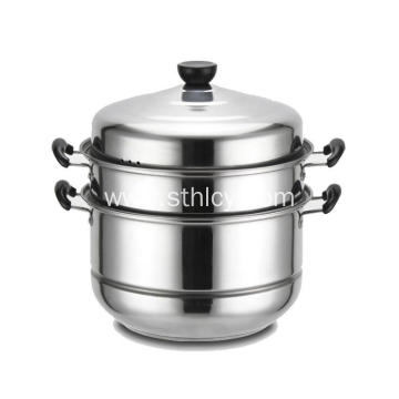 3 Mga Layer Stainless Steel Steamer Pot na may Lid