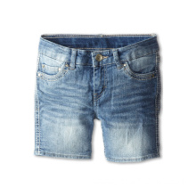 Children's Blended Short Pants Washed Denim Jeans