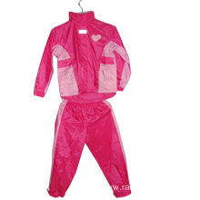 100% Polyester Waterproof Children Rain Suit