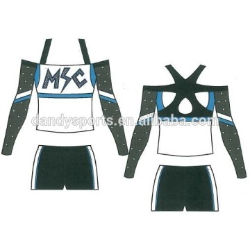 Custom Off The Shoulder Cheer Uniform For Youth