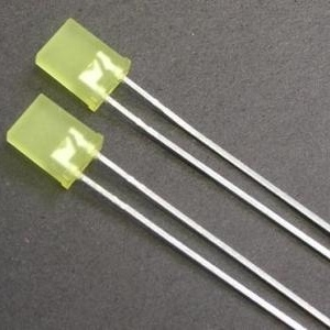 7.2mm Green Color Rectangular LED Lamp