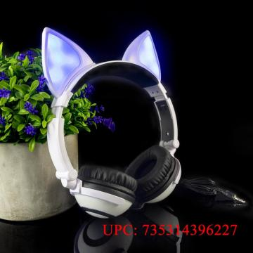 LIMSON Over-Ear Headphones,Stereo LED Light Up On-Ear Headphones for Kids Girls Boys Adults,Gaming Earphones for Phones Tablet M
