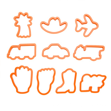 plastic vehicles cookie cutter set