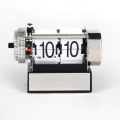 Small White Alarm Flipping Clock For Decor