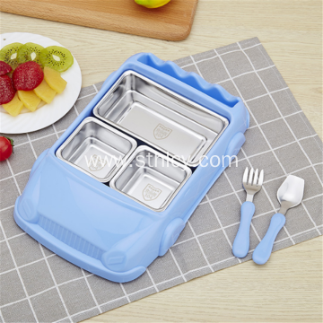 Stainless steel 304 car model children's tableware