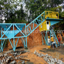 60 Wet Mixed Portable Concrete Batching Machinery