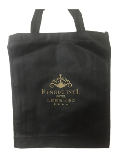 Logo printed non woven hotel advertising bag