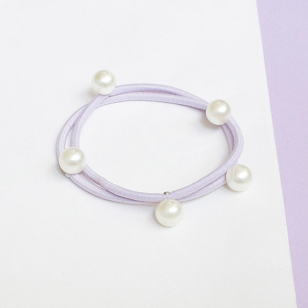 White Pearl Hair Rope Bracelet