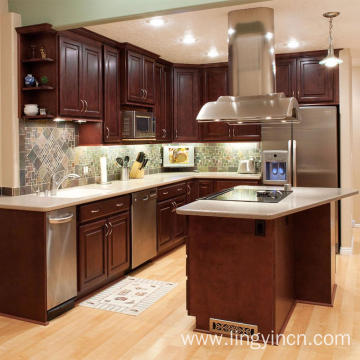 High end kitchen cabinet with bar design