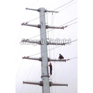 High Quality Industrial Factory for High Voltage Transmission Line 220kV Galvanized Steel Tapered Power Pole export to Iraq Supplier
