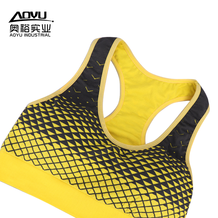 Custom Padded Sexy Women Blank Fitness Sports Bra