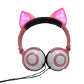 LED gifts Fox ear headphone for kids