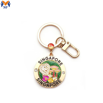 Souvenir metal keychain with animals shape