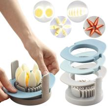 Multifunctional 3-in-1 boiled egg slicer egg chopper