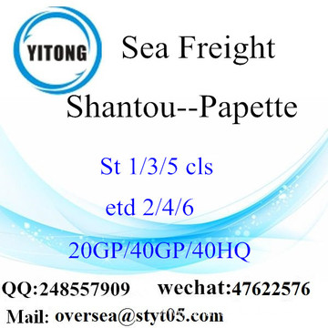 Shantou Port Sea Freight Shipping To Papette