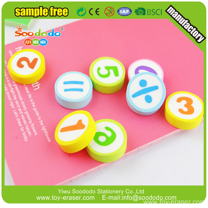 Hotsale Promotional Cheap Custom Soft Rubber Eraser For Kids