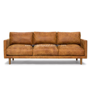 Nirvana Dakota Tan Leather Sofa