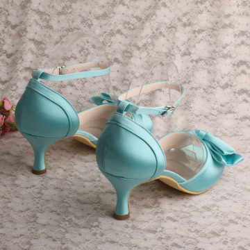 Mint Green Mid Heel Shoes Sandals for Women Size 9